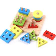 1x Jouet Intelligence Bois Jeu Construction Educatif Puzzle Pour Bébé Enfant NF