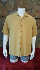 🌴 TOMMY BAHAMA  Button Front 100% Silk Men's short Sleeve Shirt Size-M