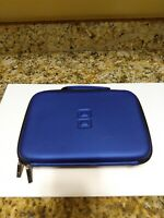 Nintendo DS blue hard shell travel carrying case bag