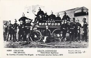 Pamlin Repro Photo Postcard M2801 South Norwood Horse drawn Fire Appliance 1870