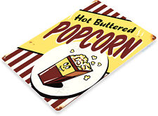 TIN SIGN Hot Popcorn Metal Décor Wall Art Theater Kitchen Store Bar A431