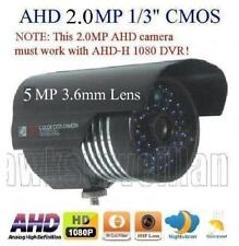 Ahd 2.0Mp 108P Waterproof Ir-Cut outdoor Camera 48IrxF0.5mm 5Mp 3.6mm Lens O.S.D