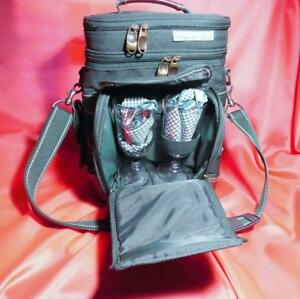 Picnic at Ascot Insulated Wine & Cheese, Picnic for Two Tote with shoulder strap