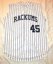 RACKUMS 45 Pinstripe Baseball / Softball Jersey VEST Sewn Embroidered L Large