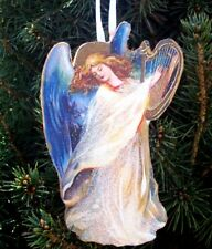 Harp Angel Ornament Handcrafted Wood Christmas Religious Choir Director Gift