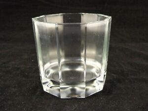 Clear Glass Vase/Bowl Decagon 10 Sided