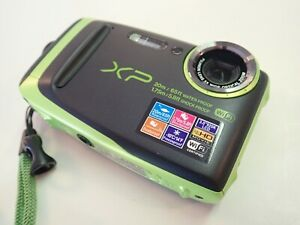 Fuji film FinePix XP120 Digital Waterproof Underwater Camera - Black/Lime Green