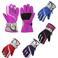 1Pairs Child Winter Warm Waterproof Windproof Snow Snowboard Ski Sports Gloves