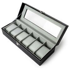 6 / 12 Caja Guarda Relojes Expositor Organizador Estuche Vitrina Watch Box