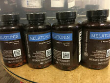 4- Amazon Elements Melatonin 5mg, Vegan, 195 Capsules 3 bottles - FREE SHIP! A79