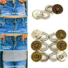 6Pcs Expanders Button Fix Extender Waist Men/Women Pants Jeans Stretch E2U