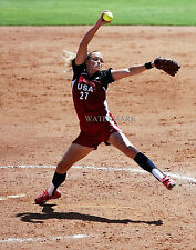 Jennie Finch Womens Softball Pitcher Team Usa Olympics 8X10 Photo