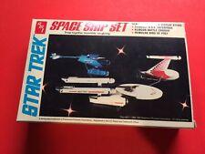 Star Trek Space Ship Set Unbuilt Plastic kit Three Starships plus Stand