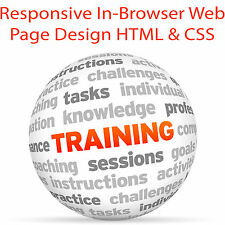 Responsive In-Browser Web Page Design HTML & CSS - Video Training Tutorial DVD