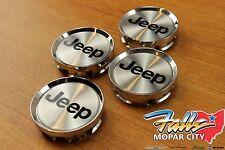 2001 2002 2003 2004 Jeep Grand Cherokee Chrome Wheel Center Caps Set of 4 OEM