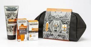L'Oreal Men Expert Revival Washbag 3-Piece Gift Set Eye Roll On Tattoo Reviver