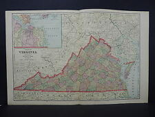 Antique Map, 1906, United States, State of Virginia M6#14
