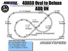 LIONEL FASTRACK 40x60 OVAL TO A DELUXE TRAIN TRACK ADD-ON-PACK layout 5x10 NEW