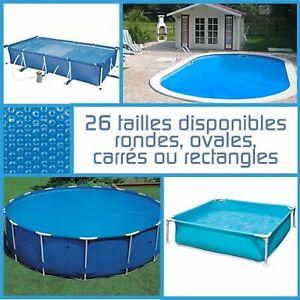 Linxor ® Bâche à bulles ronde ovale carrée ou rectangle 180 microns / 26