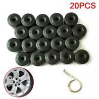 20x 17mm Black Wheel Nut Caps Bolt Covers For Audi VW Vauxhall Bmw Mercedes NEW