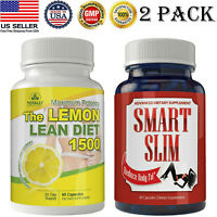 Lemon Lean Diet Caps Fat Burner Smart Slimming Weight Loss Pills Free Shipping
