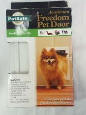 New listing PetSafe Small Freedom Aluminum Pet Dog Door Dogs to 15 lbs Ppa00-10859 (N7)