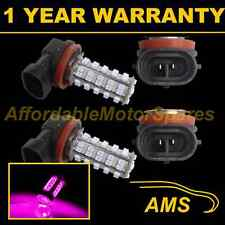 2X H11 PINK 60 LED FRONT FOG SPOT LAMP LIGHT BULBS HIGH POWER KIT XENON FF500702