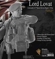 RP Models,  Lord Lovat Bust, D-Day 1944, 100mm Resin Bust Kit, New in Box