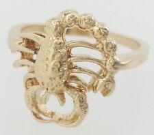 14k yellow gold scorpio zodiac Ring size 7