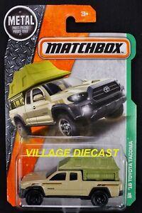2017 Matchbox #86 '16 Toyota Tacoma QUICKSAND (BEIGE) / MOC