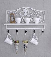Porta asciugamani Tavola da muro squallido Mensola bianco supporto cucina
