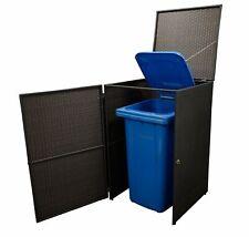Mülltonnenbox 1er groß Mülltonne Müllbox Verkleidung Polyrattan 240 Liter Neu