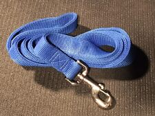 """THICK - 6 ft Blue Double-Ply 1"""" Nylon Dog Leash w/ Metal Hardware Six foot inch"""