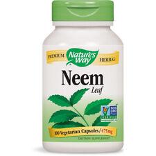 Nature's Way Neem Leaves 475 mg Ayurvedic Deitary Supplement - 100 Capsules