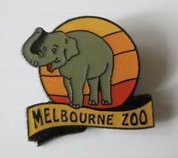 Vintage Look Melbourne Zoo Elephant Collectable Commemorative Badge Pin