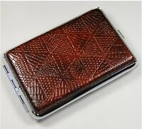 High quality Pocket Leather Cigarette Tobacco Case Box Holder 12pcs YH04-03