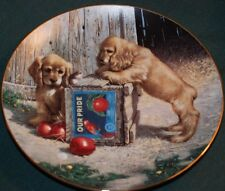Hamilton/Jim Lamb:Golden Labs LtdEd Plate: Double Take - Puppy Playtime