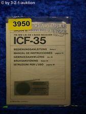 Sony Bedienungsanleitung ICF 35 4 Band Receiver (#3950)