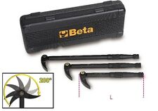 BETA TOOLS 966/C3 SET OF 3 PRY BARS WITH 200 DEGREES ARTICULATING HEADS
