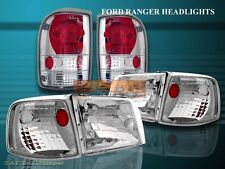 1993-1997 FORD RANGER CRYSTAL CLEAR HEADLIGHTS + CORNER + CLEAR TAIL LIGHTS
