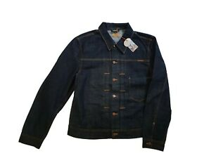 NUDIE JEANS MAN JACKET SONNY RINSE TWILL Size XL without defect
