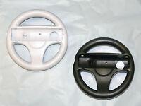 Mario Kart Steering Wheel Set for Nintendo Wii and Wii U -Old Skool (W & B)