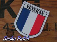 """snake patch - FRANCE OPEX """" VETERAN """" biker ancien combattant OPEX TOE AF armée"""
