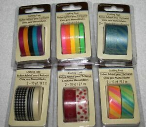 Recollections  WASHI Crafting Tape Lot    6 pkgs/18 rolls   New/Sealed