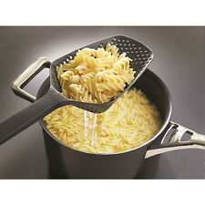 Spoon Food Strain Drain Pasta Basket Black Scoop Colander Strainer Large Durable
