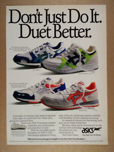 1989 ASICS GEL Epirus LD Racer Lyte II Ekiden Running Shoes vintage print Ad