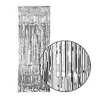 Silver shimmer lamé metallic toile de fond rideau mariage fête décoration 3ft x 8ft