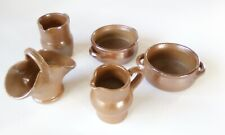 Five French vintage mini pottery tableware