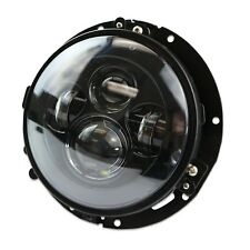 "7"" LED Projector Daymaker Black Headlight Harley With Black Adapter Mount"