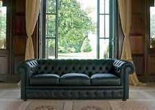 Klassische Chesterfield Couch Polster Sofa Sofas Leder 3 Sitzer Chester  Neu